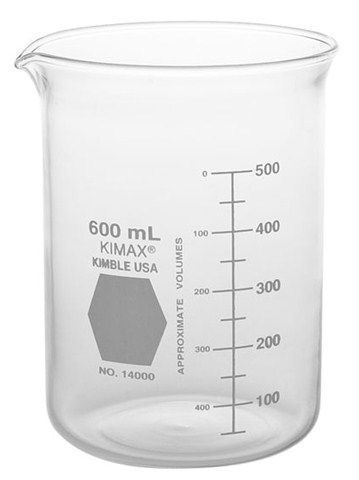 Kimble Chase - Griffin Beakers, Low Form, with Double Capacity Scale