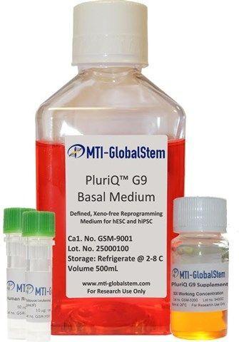 MTI-GlobalStem - PluriQ G9 Feeder-Free Maintenance Medium Kit