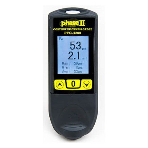 Phase II - Coating Thickness Gauge with Color Display and Auto Detect