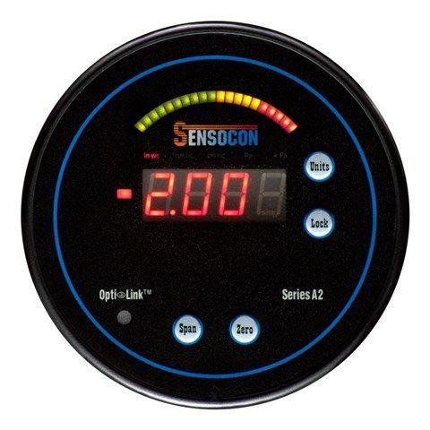 Sensocon - Digital Differential Pressure Gauge - Series A2