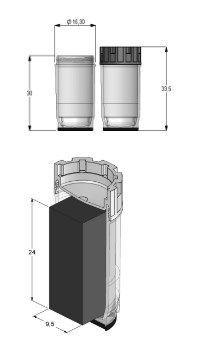Micronic - 3.50ml Tissue Storage Tubes External Thread