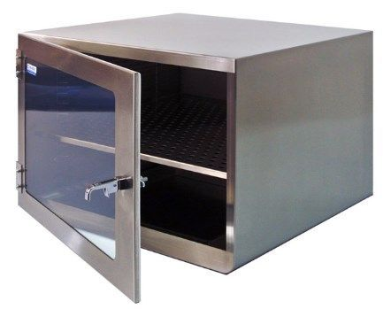 Cleatech - One Door Stainless Steel Desiccator Dry Storage Cabinet 16x16x16