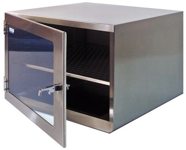Cleatech - One Door Stainless Steel Desiccator Dry Storage Cabinet 18x18x16