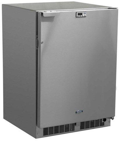 Marvel Scientific - Marvel 24 - All Refrigerator, Stainless Cabinet, Stainless Door, Probe Port, Door Lock, Frost Free, LH