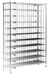 """Eagle Group - 4"""" x 60"""" Stainless Steel Shoe Rack"""