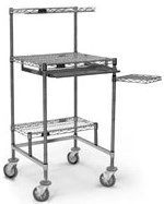 """Eagle Group - 30"""" x 30"""" Mobile Chrome Wire Workstation w/Resilient-Tread Casters"""
