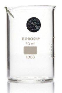 Foxx Life Sciences - Borosil Beaker Griffin Low Form with Spout Graduated ISO 3819 Borosilicate 50mL CS/60